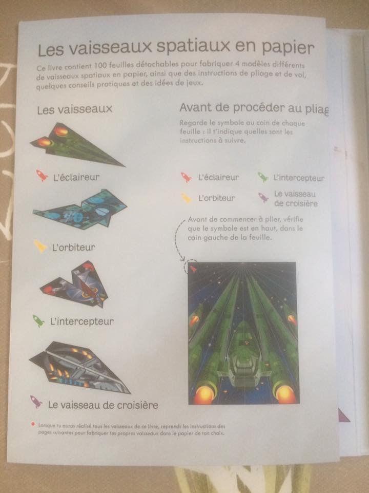 100 vaisseaux spatiaux en papier à plier et à faire voler Usborne
