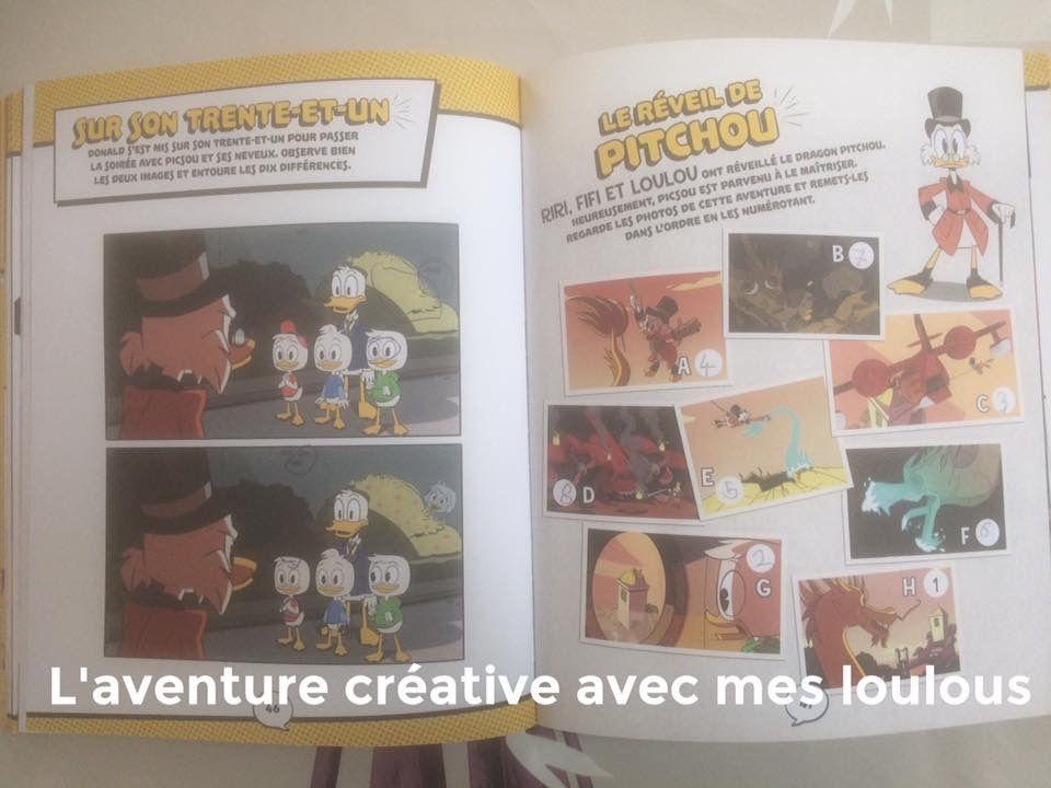 Carnet d'énigmes En route pour l'aventure! La bande à Picsou Hachette Jeunesse