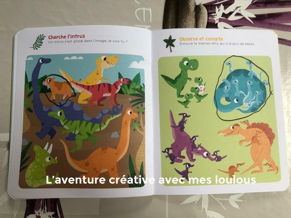 Jeux d'observation Vive les dinosaures! Editions Lito
