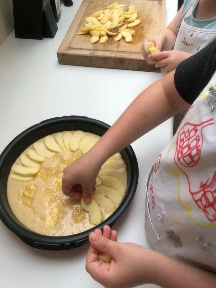 Gâteau pomme crème d'amande
