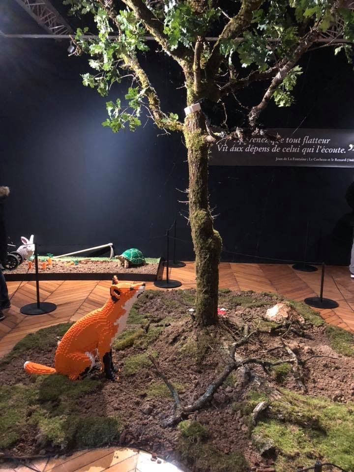 Exposition Les Fables de la Fontaine en briques Légo