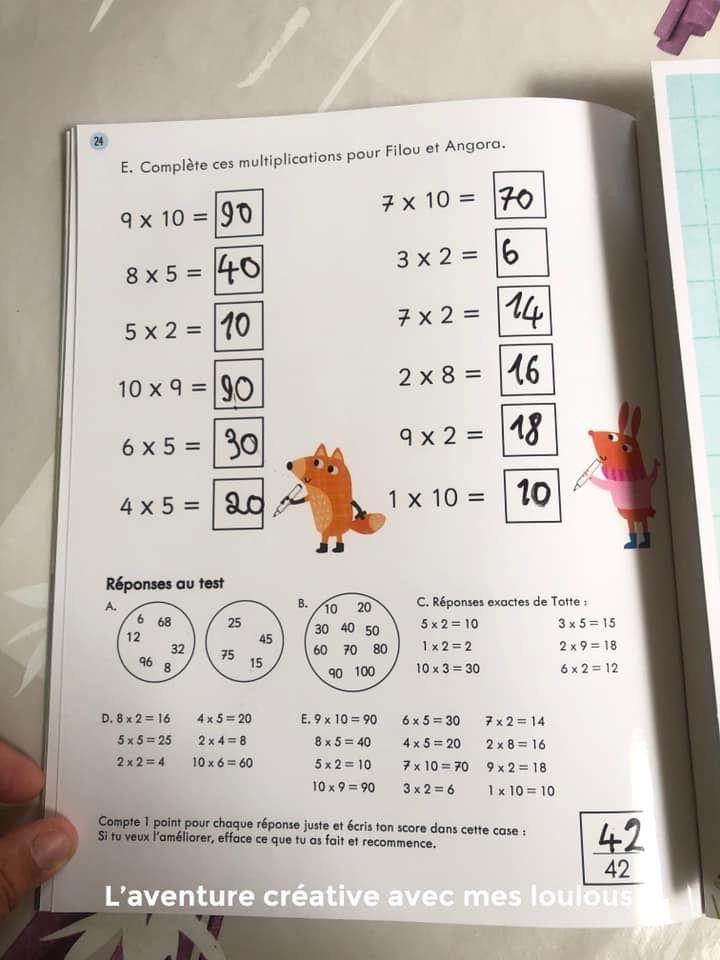 Je m'entraîne, je m'amuse Mes activités effaçables Les tables de multiplication Usborne
