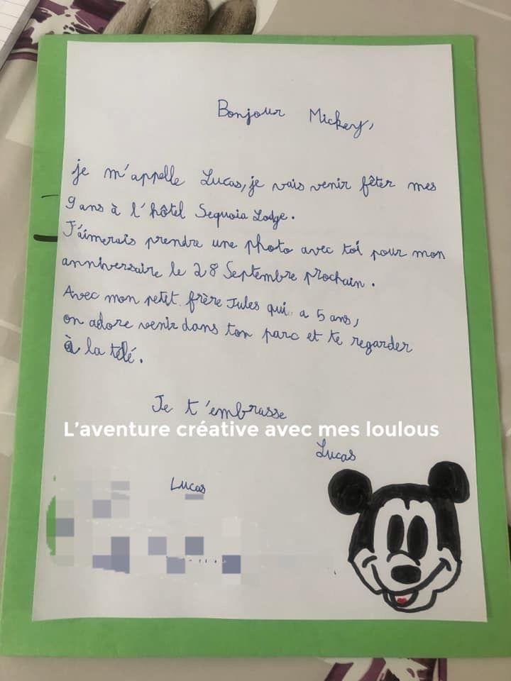 Écrire une lettre à Mickey
