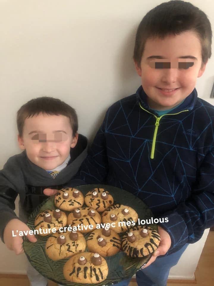 Cookies araignées à l'huile d'olive