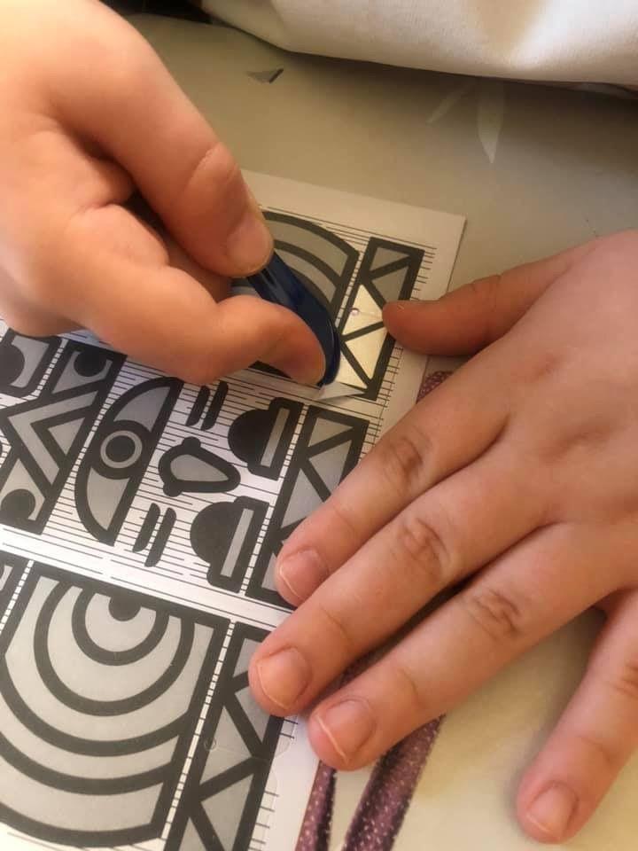 Mini box Totems avec du sable coloré Maped créativ
