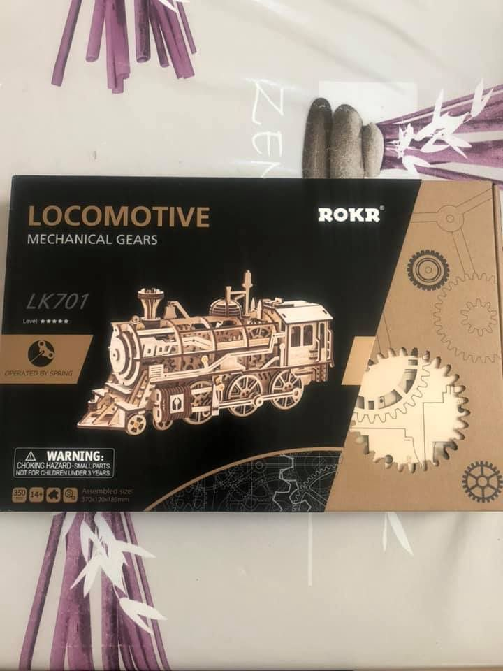 Locomotive du Texas mécanique en bois 3D Mecapuzzle