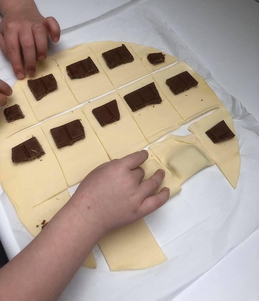 Feuilletés au chocolat