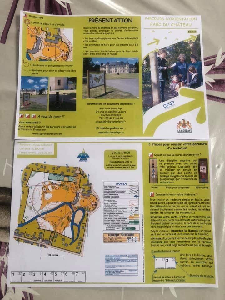Parcours d'orientation gratuit à Lamorlaye (Oise)