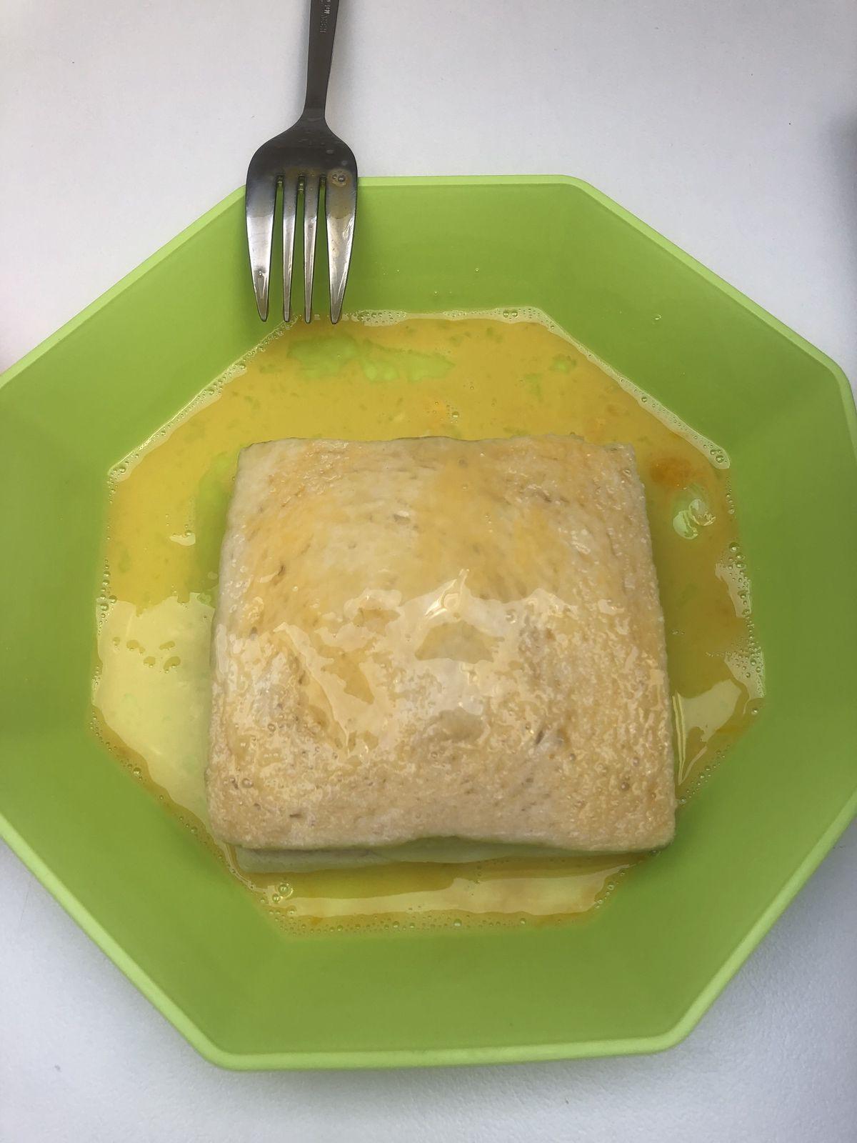 Croques façon pain perdu à la mozzarella