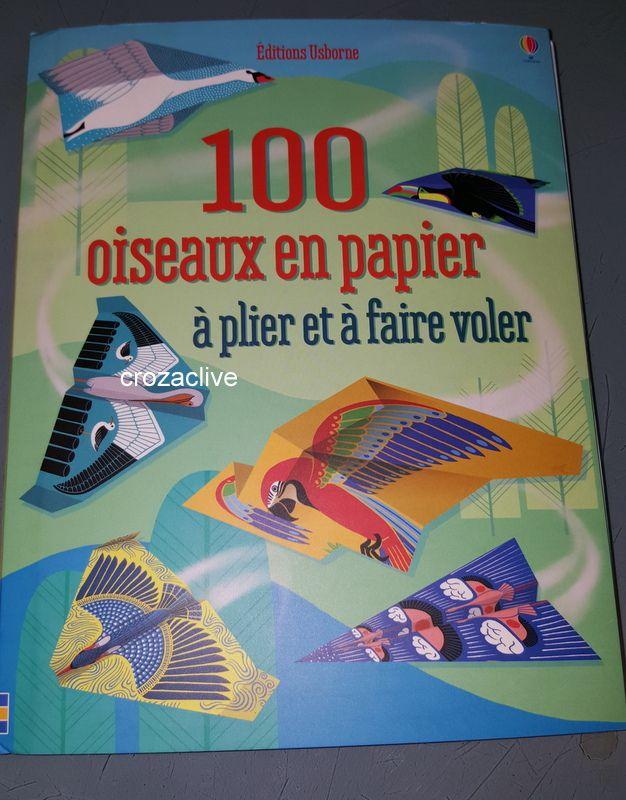 100 oiseaux en papier à plier et à faire voler, Editions Usborne