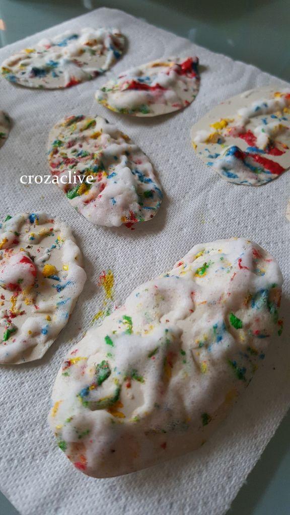 Décoration Pâques, la guirlande d'oeufs, DIY