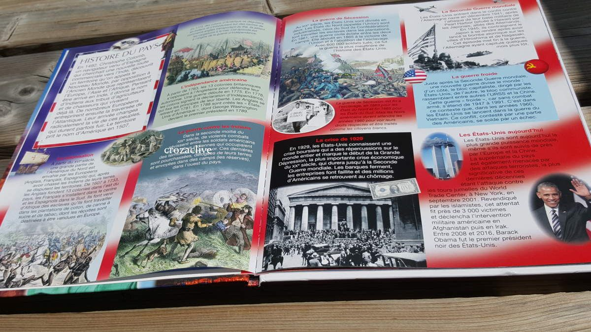 Les Etats Unis et Mars, les nouveautés des Editions FLEURUS, la grande imagerie...