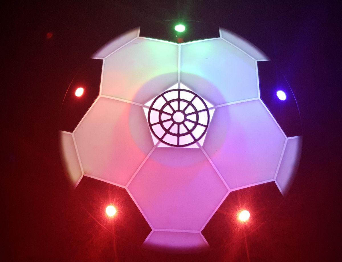 Ballon de Foot  aéroglisseur lumineux intérieur et même indoor qui va bien !!!