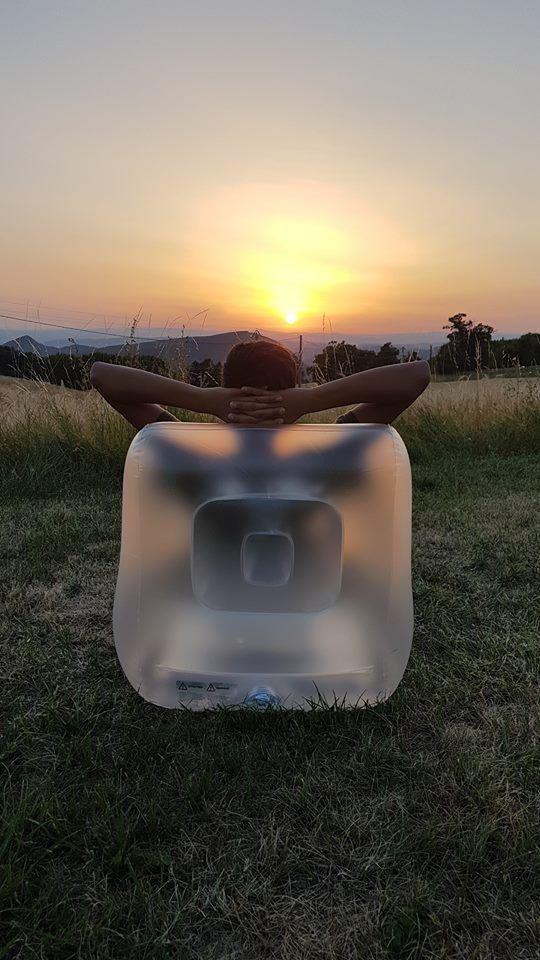 et, ce que j'aime le plus : le coucher de soleil...
