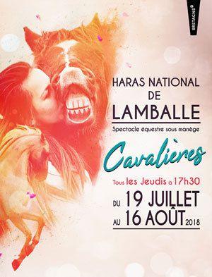 """Spectacle équestre sous manège""""Les Cavalières"""" à Lamballe vers Rennes"""