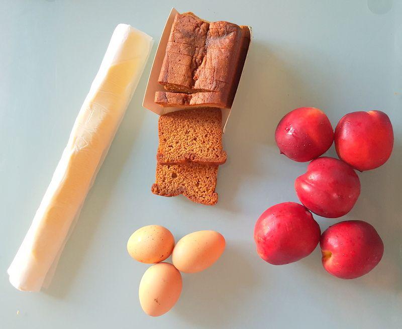 Tarte aux nectarines et au pain d'épices
