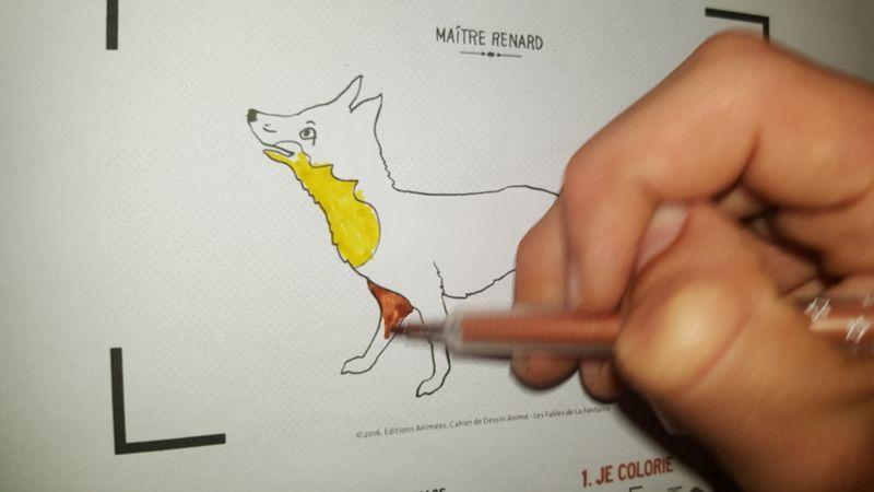 Le cahier de coloriage avec les Editions Animées et l'appli BlinkBook
