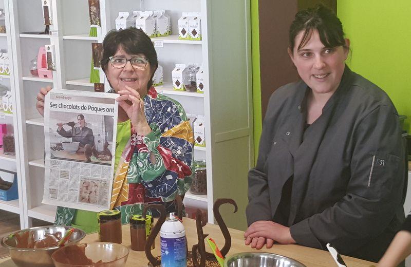 Fromage et chocolat, le duo des Douceurs du Cézallier