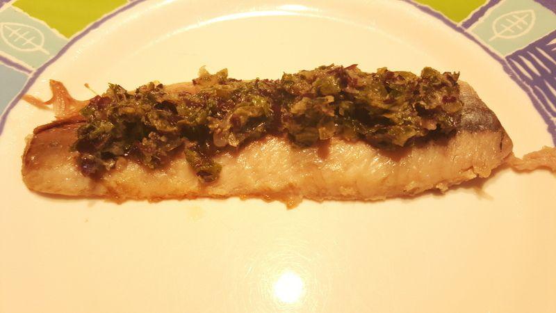 Le poisson Mille-feuille au tartare d'algues de Bord à Bord