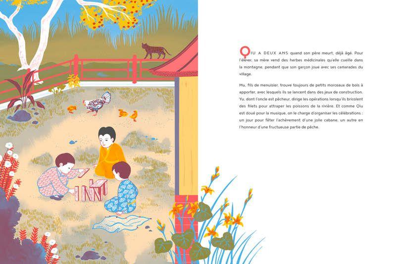 [AUX COULEURS DE L'ASIE]  Confucius, toute une vie / Chun Liang Yeh, Clémence Pollet. - Hong Fei