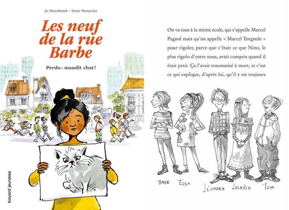 Les neuf de la rue Barbe. 1. Perdu, maudit chat ! Joe Hoestlandt, Irène Bonacina - Bayard Jeunesse