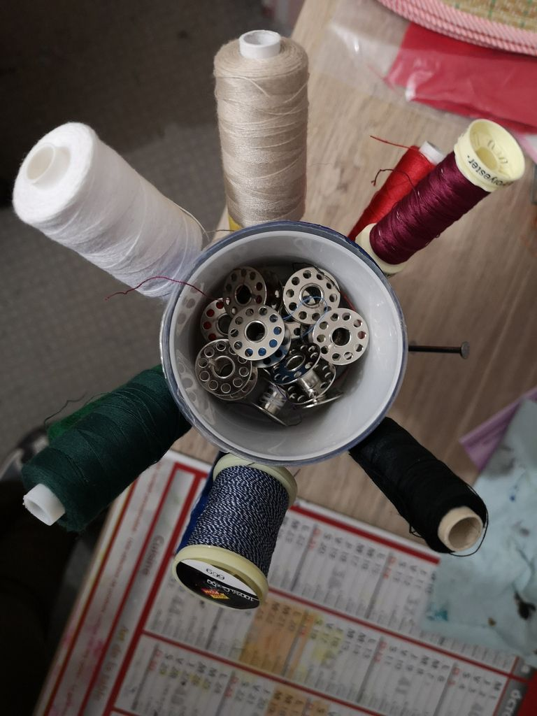 coller la petite boîte du même diamètre pour les canettes...et voilà.Ma source sur youtube: sonali's creations