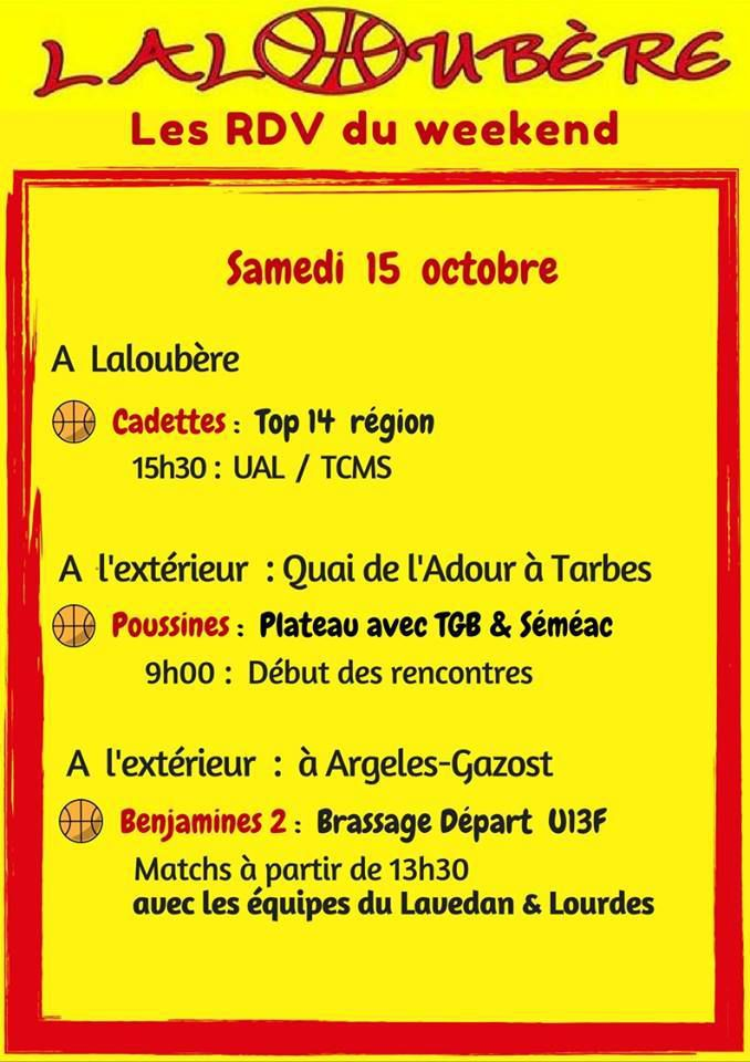 WE 15 & 16 octobre