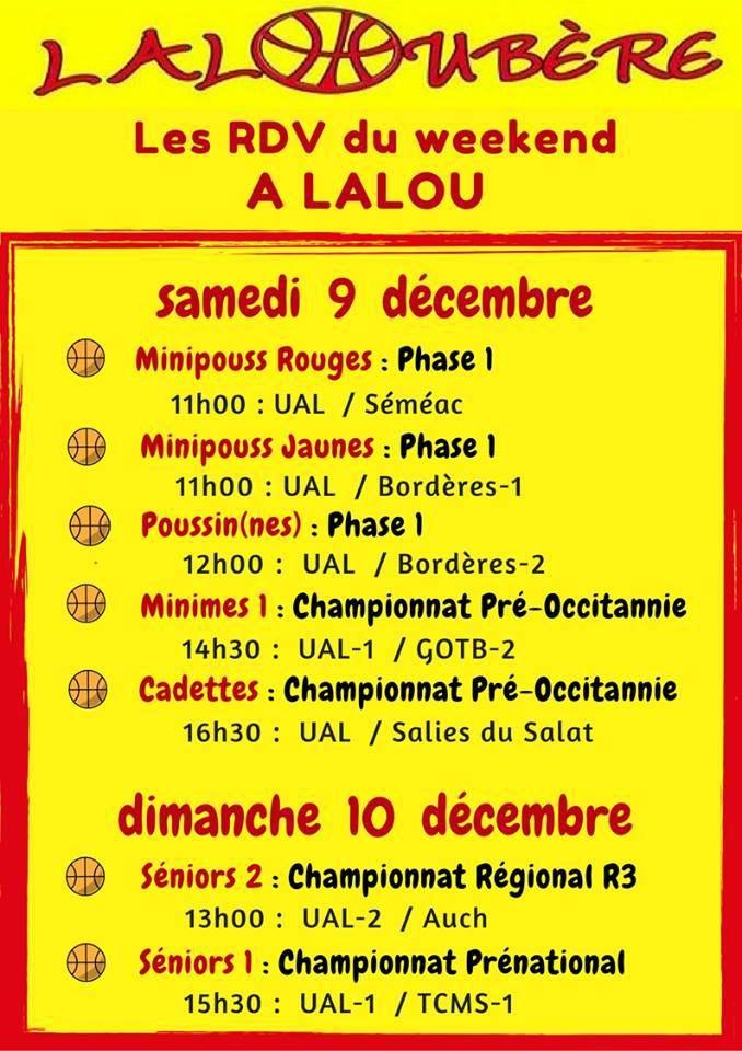 Samedi 9 décembre à Lalou