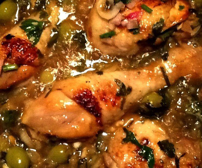 Recette de cuisses de poulet aux agrumes, olives et gingembre
