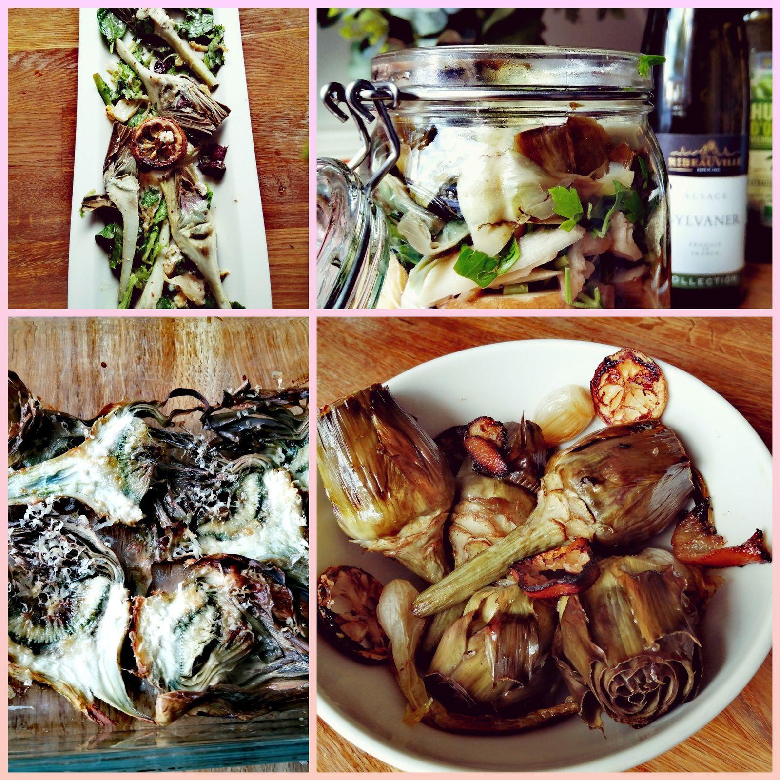 recette artichauts rôtis au four