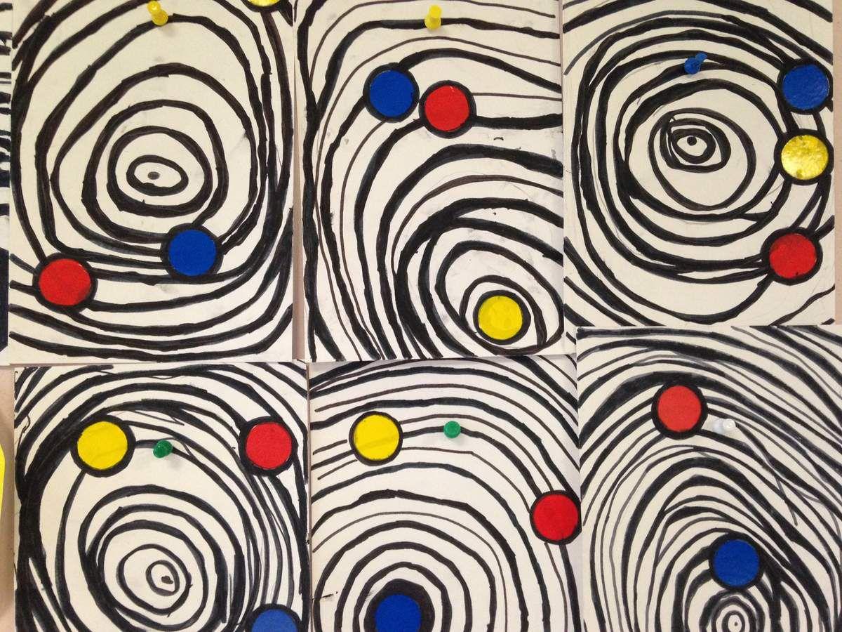 A la manière d'Alexander Calder (Graphisme : les ronds) GS