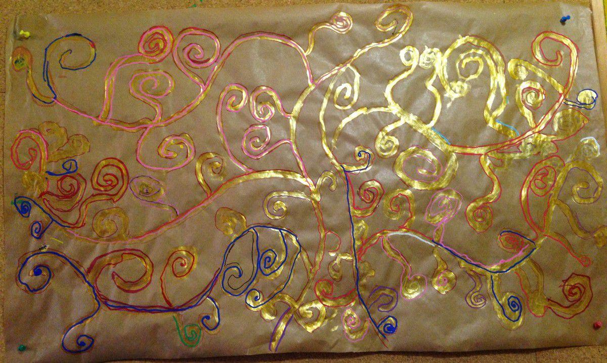 Klimt L Arbre De Vie Tableau a la manière de gustav klimt (graphisme : les spirales) gs