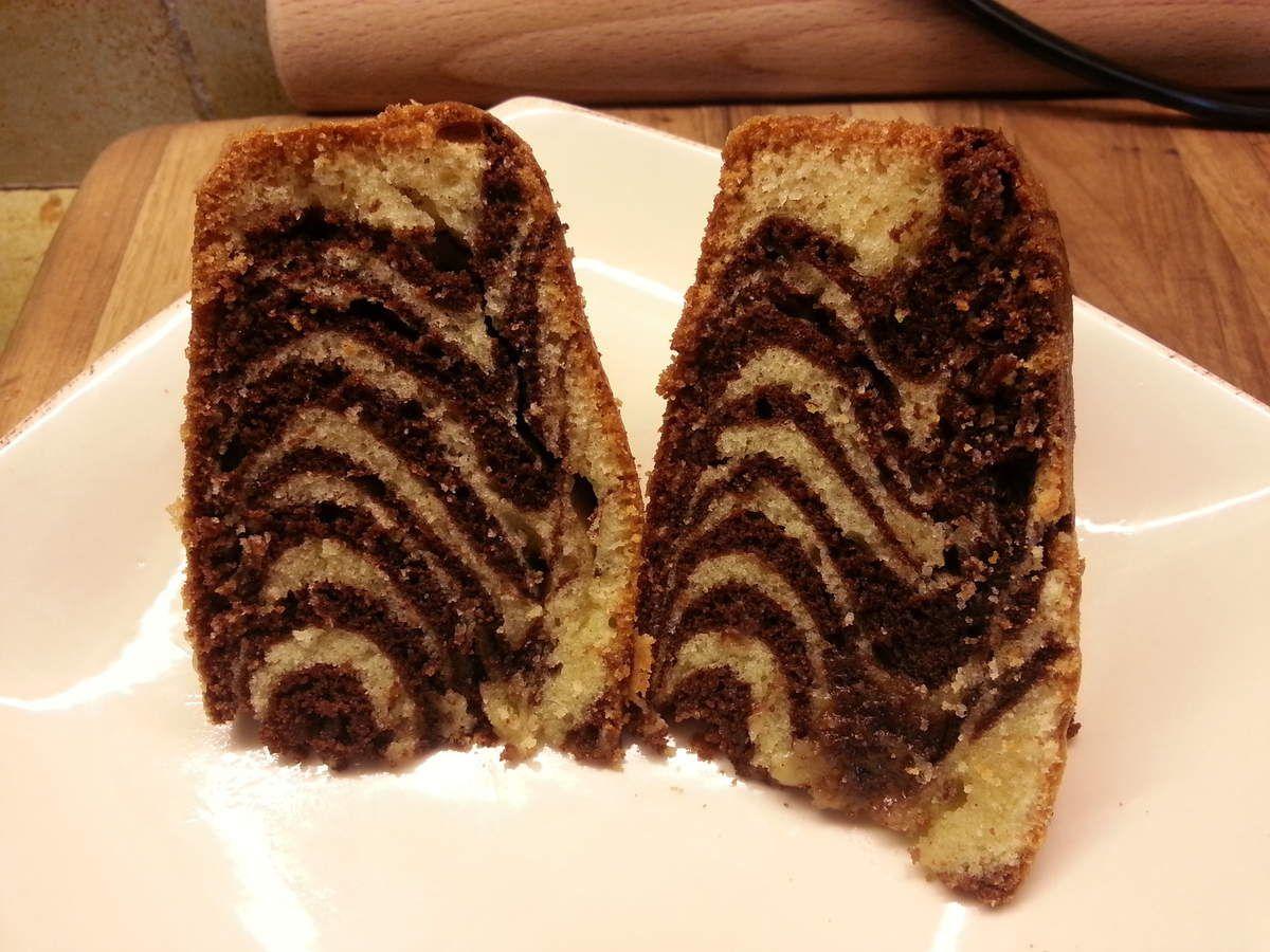 ZEBRA CAKE ou gâteau marbré