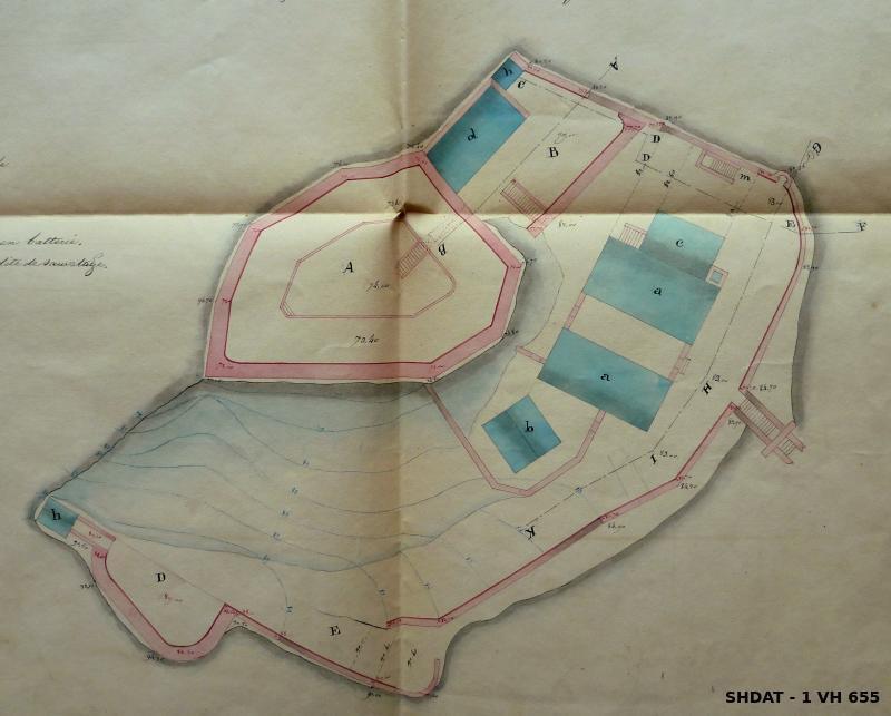 Etat du fort en février 1836 (© Service historique de la Défense)