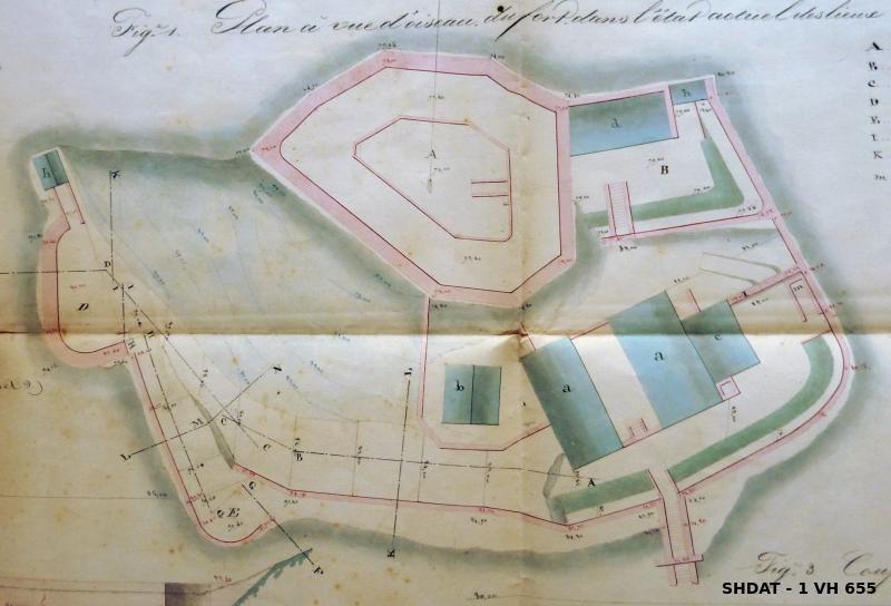 Etat du fort en décembre 1837 (© Service historique de la Défense)