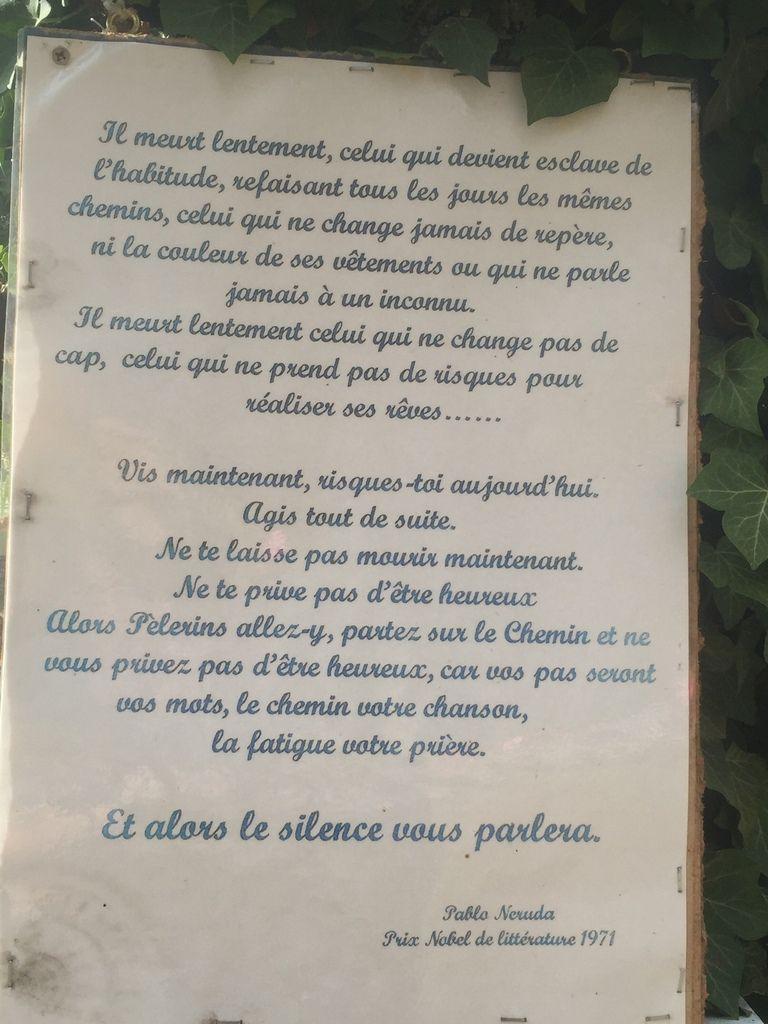 COMPOSTELLE 2016 - JOUR 3 : BEDUER - MAS DE DALAT (32,5kms)