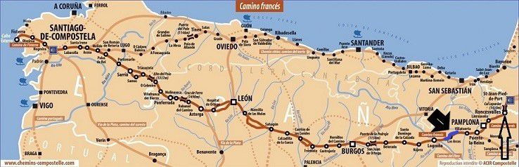 COMPOSTELLE 2018: JOUR 6 :  VILLAMAYOR DE MONTJARDIN -VIANA (31 kms)