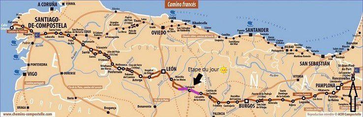 COMPOSTELLE 2018: JOUR 15 : CALZADILLA DE LA CURZA-BERCIANOS DEL REAL CAMINO (32 kms)