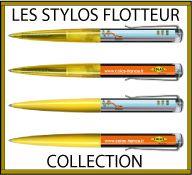 Collection de stylos liquide avec flotteur