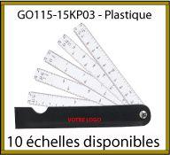 Kutch de poche 5 lames imprimées recto verso dans un étui en simili cuir - GO115-15KP03