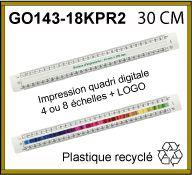 Kutch plat de 30 cm fabriqué en plastique recyclé - GO143-18KPR2