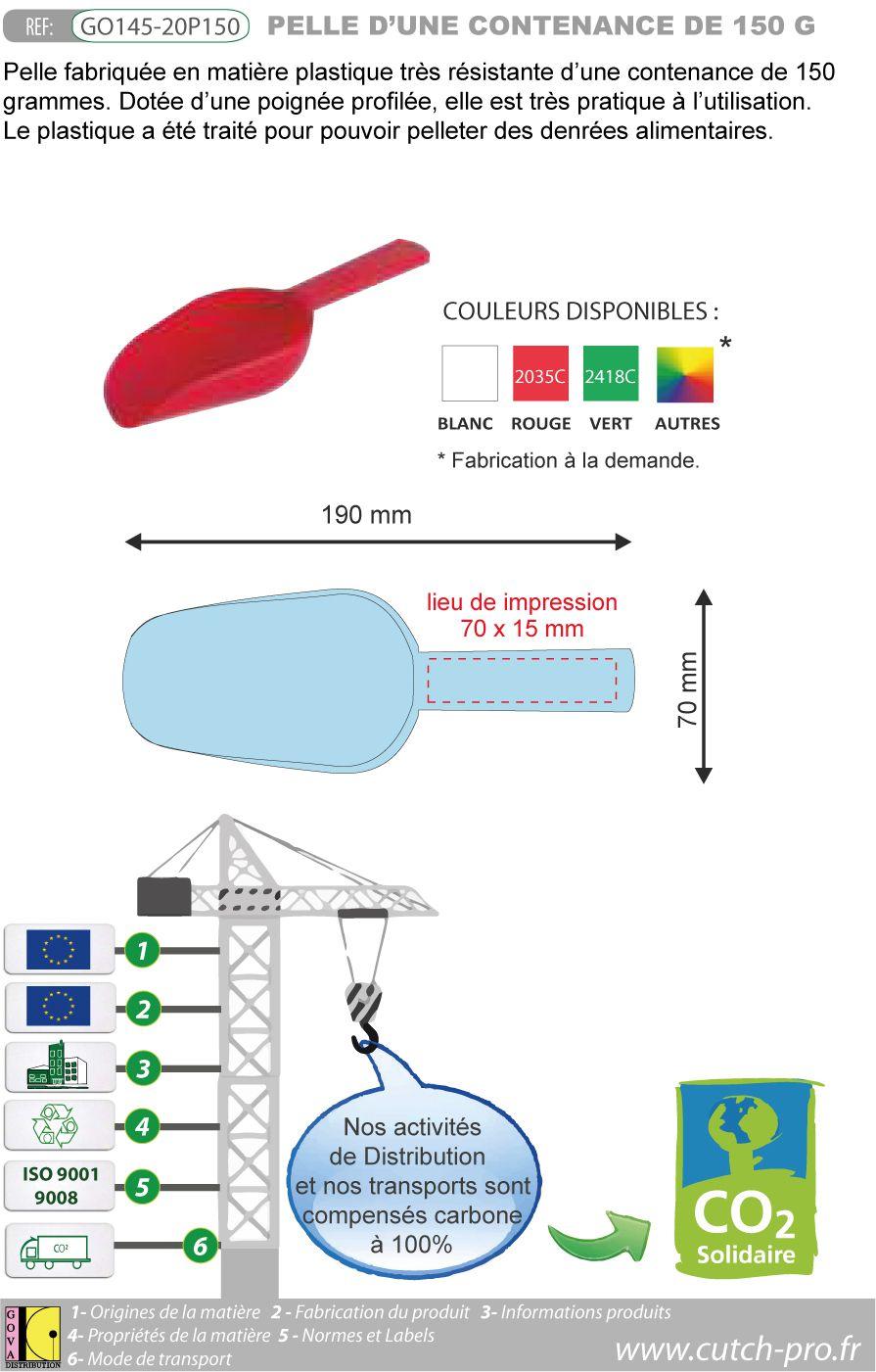 Pelle professionnelle de 150 grammes fabrication européenne - GO145-20P150