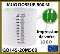 mug doseur de 500 ml personnalisé - GO145-20M500