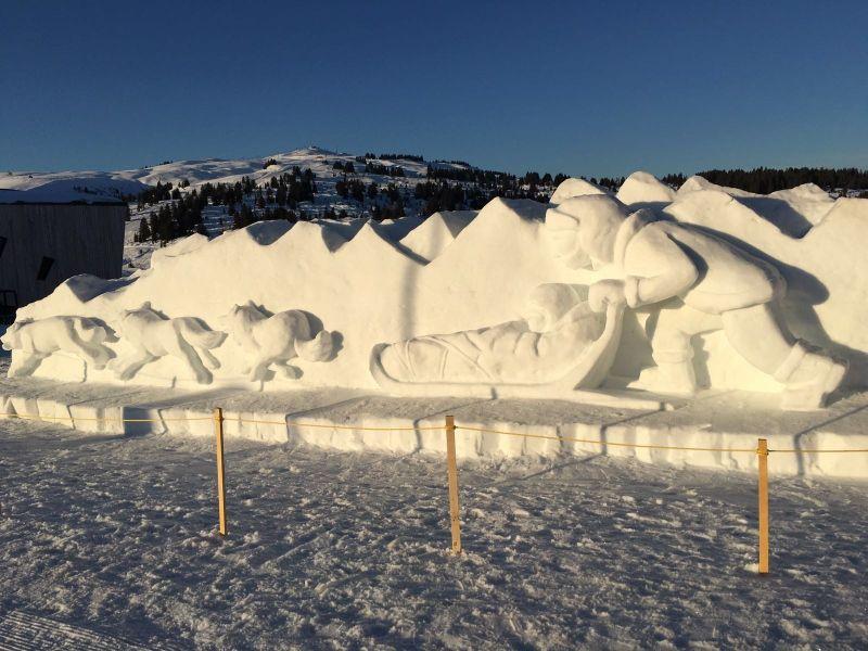 Sculptures de neige aux Saisies