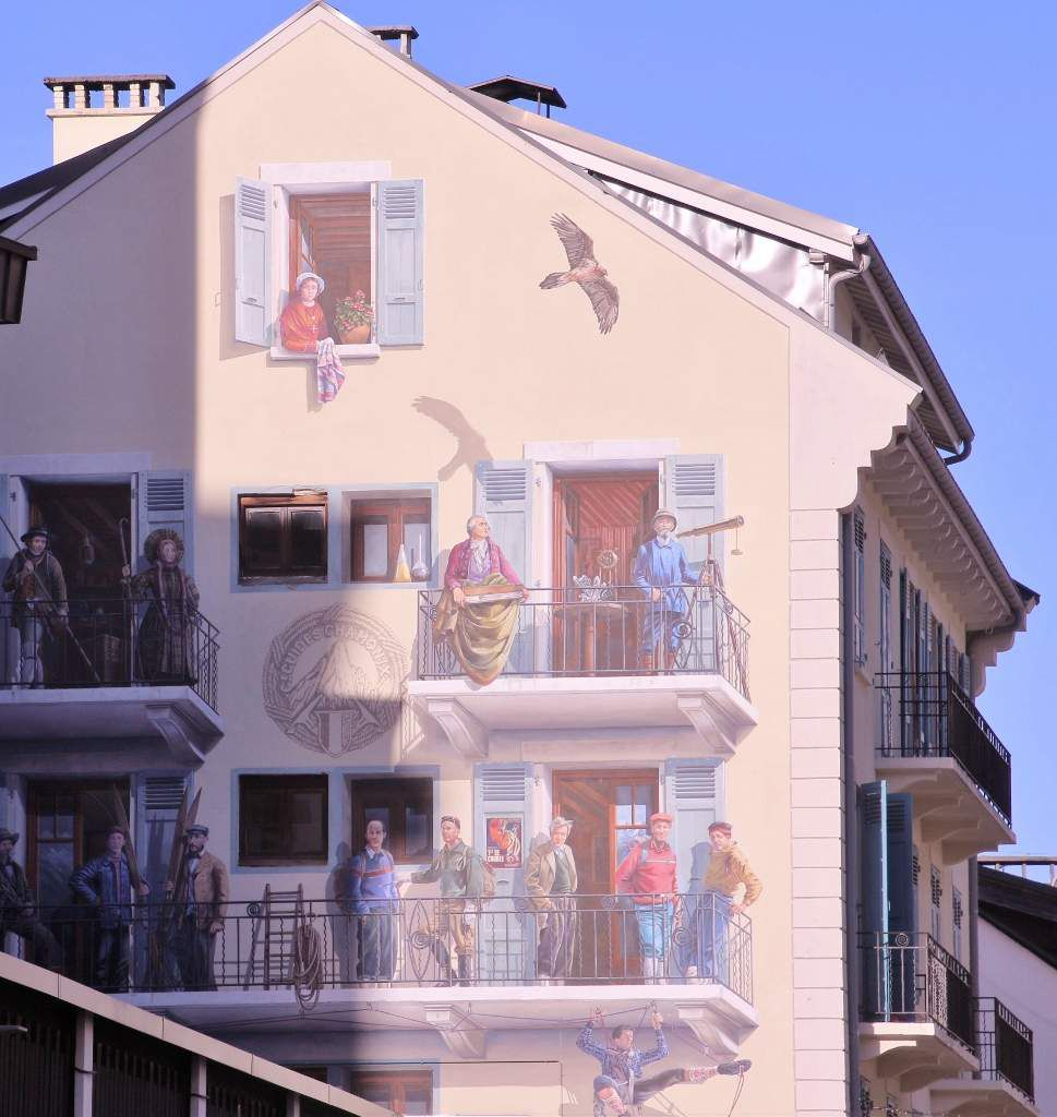 Street art à la chamoniarde