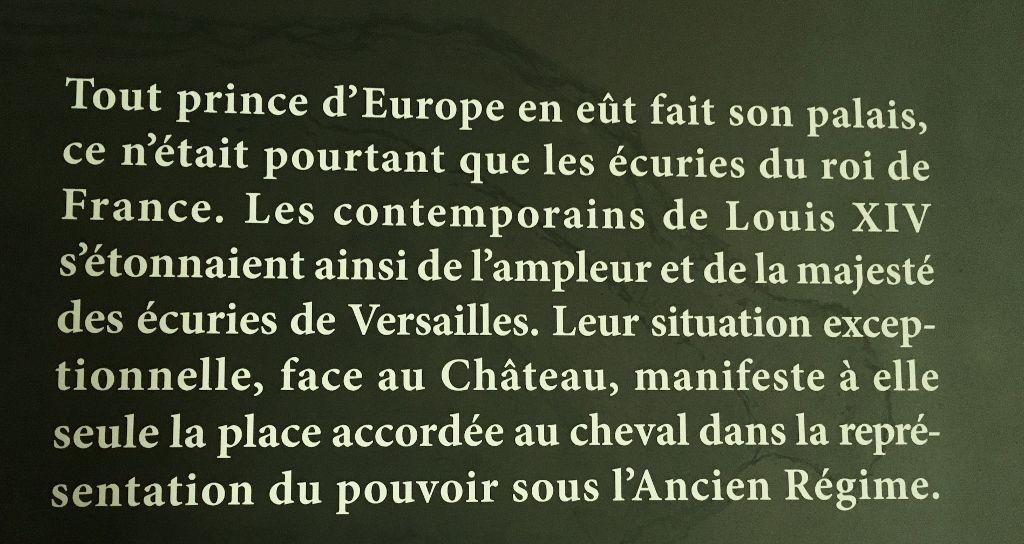 Galerie des carrosses Ecuries Versailles