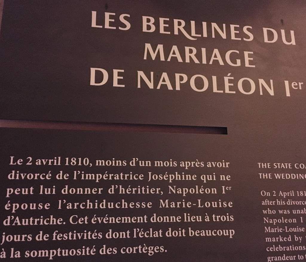 Berline mariage Napoleon Versailles