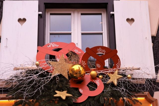 Obernai et ses fenêtres décorées