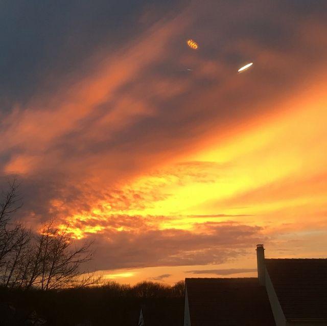 Le soleil se couche à Sucy en Brie