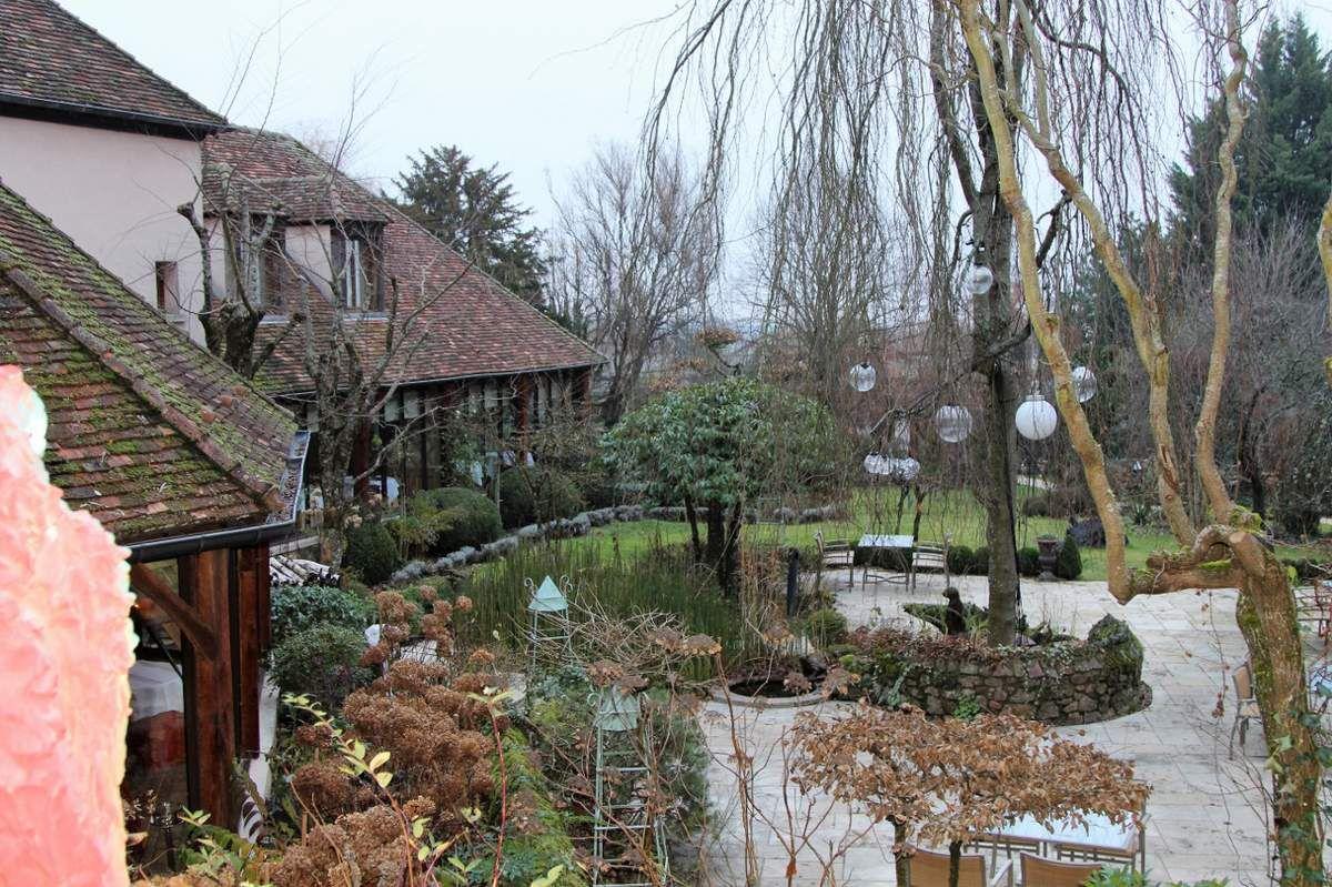 Bernard Loiseau, jardin de l'hotel